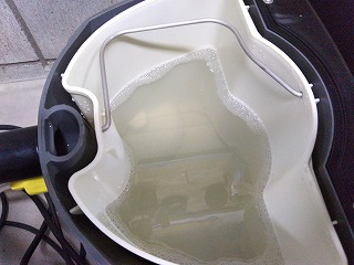 リンサーの回収汚水