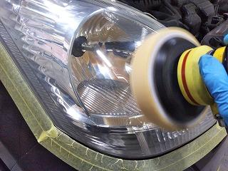 ヘッドライト仕上げ磨き